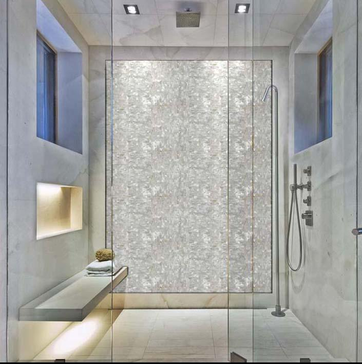 Mother Of Pearl Tile Backsplash Seamless Pearl Tile With Base St078