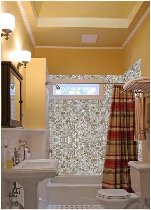 Kitchen Backsplash Tile Seamless Mother Of Pearl Mosaic