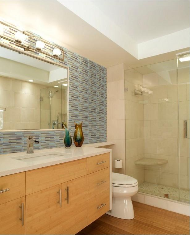 Hand Painted Kitchen Tiles: Hand Painted Brick Glass Tile Interlocking Tile Mosaic ZZ001