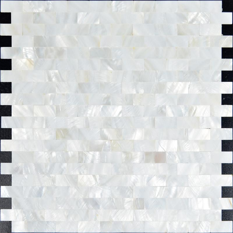 mother of pearl mosaic tiles subway seamless shell mosaics st061. Black Bedroom Furniture Sets. Home Design Ideas