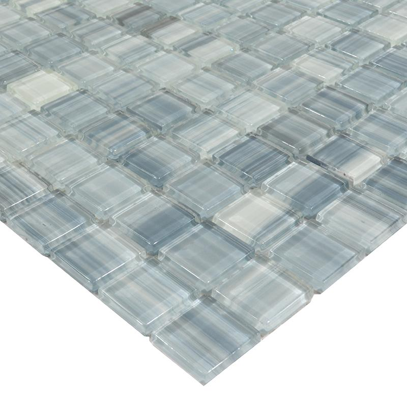 hand painted blue crystal glass mosaic wall tile zz001