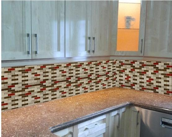 mosaic subway tile chaparral crystal glass tile kitchen backsplash