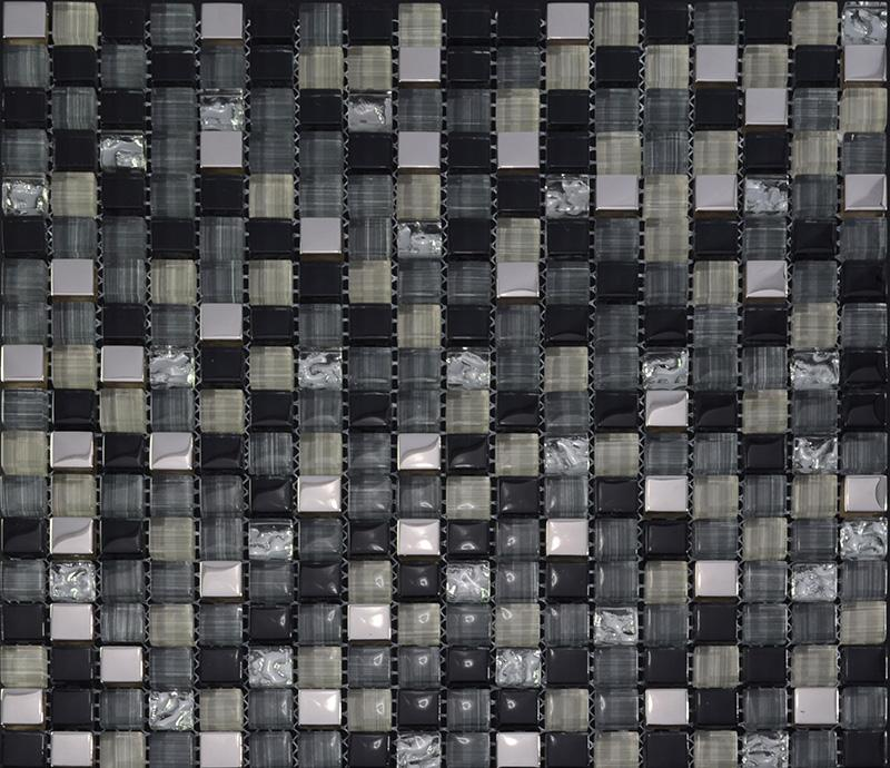 Glass Mosaic Tile Backsplash Kitchen Metal Coating Tile Designs