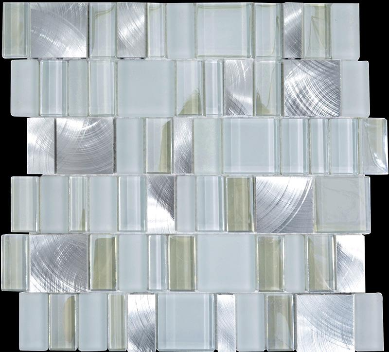 Glass Tiles In Bathroom: Metal Glass Tile Bathroom Wall Backsplash Stainless Steel
