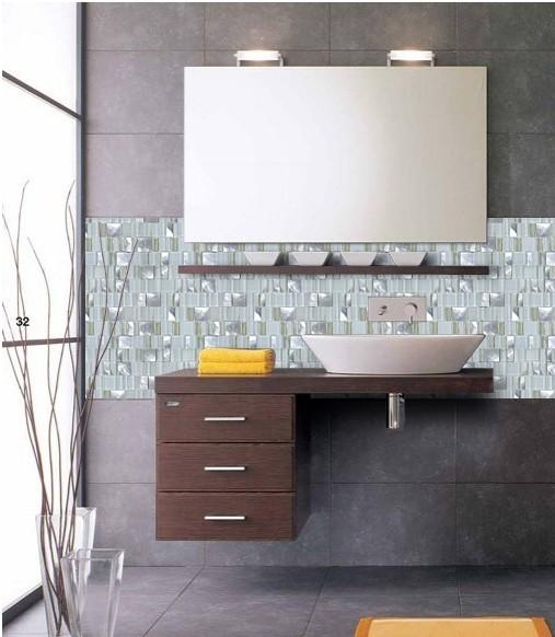 Metal Glass Tile Bathroom Wall Backsplash Stainless Steel Tiles Mg007