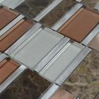 Stone mosaic tile backsplash stainless steel & glass blend metal glass mosaic tile bathroom wall tiles MG009 metallic floor tile