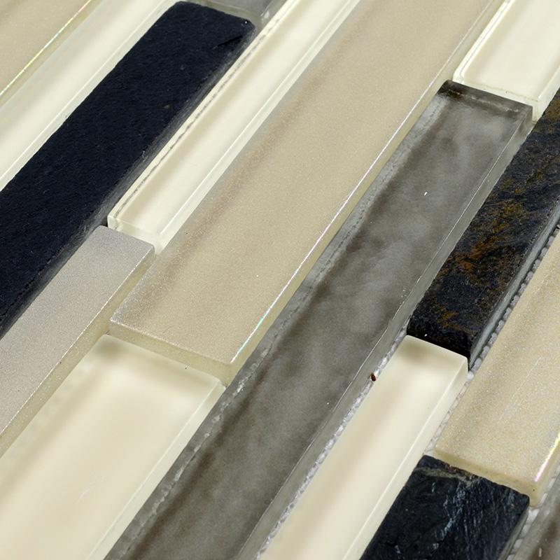 interlocking tile sheets glass blend stone mosaic tile