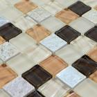crystal glass tile stone & glass blend mosaic wall tiles marble tile flooring stone glass mosaic kitchen backsplash tiles SG123