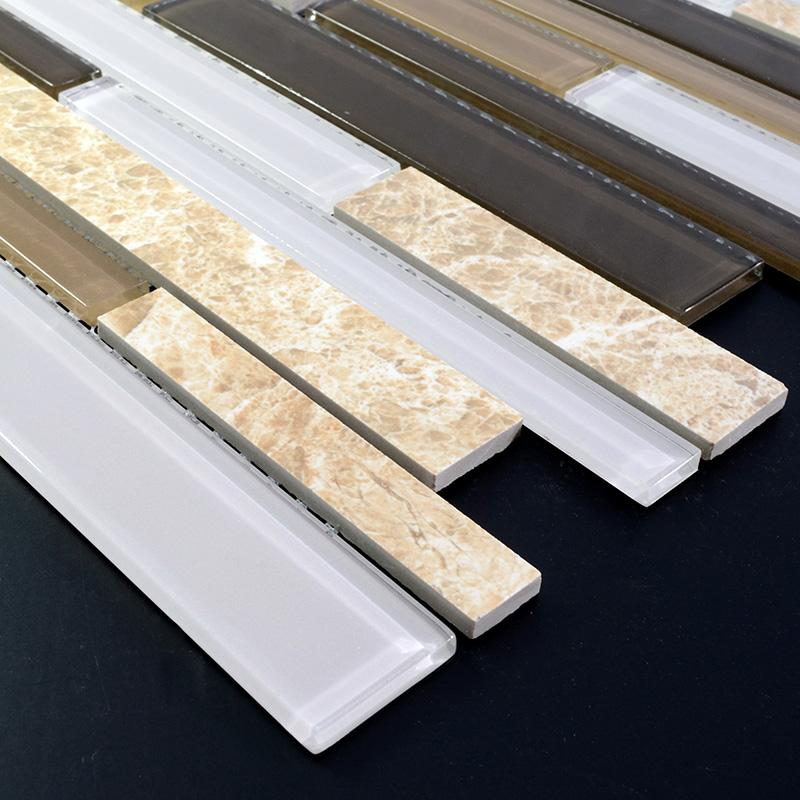 Natural Stone Glass Mosaic Tiles For Bathroom And Kitchen Sg127