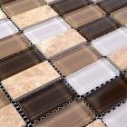 crystal glass tile stone & glass blend mosaic wall tiles marble tile flooring stone glass mosaic SG128 kitchen backsplash tiles