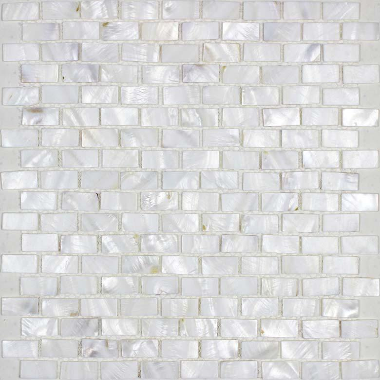 mosaic tiles subway shell pearl tile backsplash bathroom wall tile