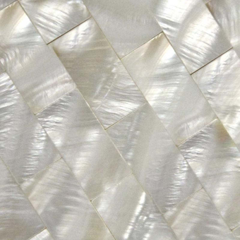 Seashell Backsplash Tile: Mother Of Pearl Tile Backsplash Kitchen Seamless Shell