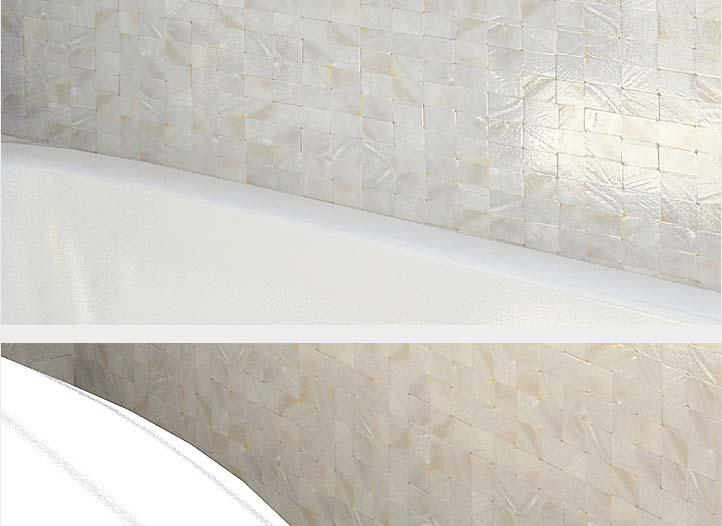 Mother Of Pearl Tile Kitchen Backsplash Seamless Shell