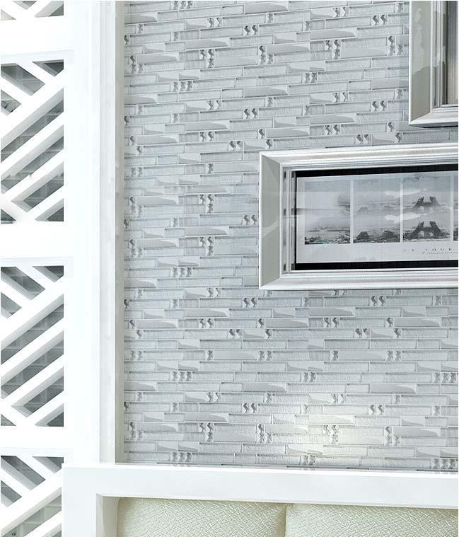 glass mosaic tiles interlocking crystal glass diamonds metal coating tile backsplash wall tiles TV backdrop wall stickers YG001