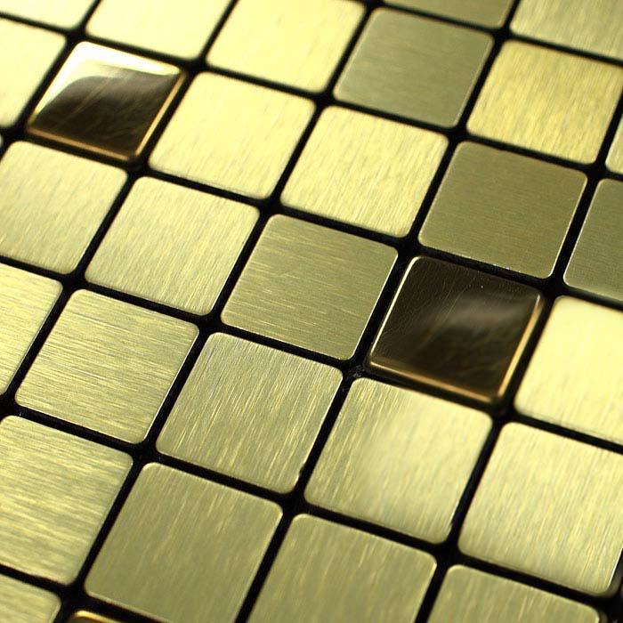 metallic mosaic tiles brushed aluminum metal tile