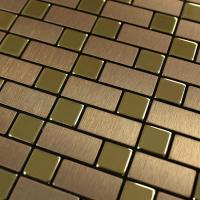 metallic mosaic tiles brushed aluminum kitchen backsplash metal tile sheets stainless steel subway tile bathroom wall tiles 9102