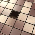 metallic mosaic tiles brushed aluminum kitchen backsplash decorative metal tile sheets stainless steel tile wall wall panel 9103