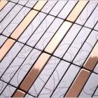 metallic mosaic tiles aluminum composite wall panels metal backsplash sheets bathroom decorative strip wall tiles LS14303