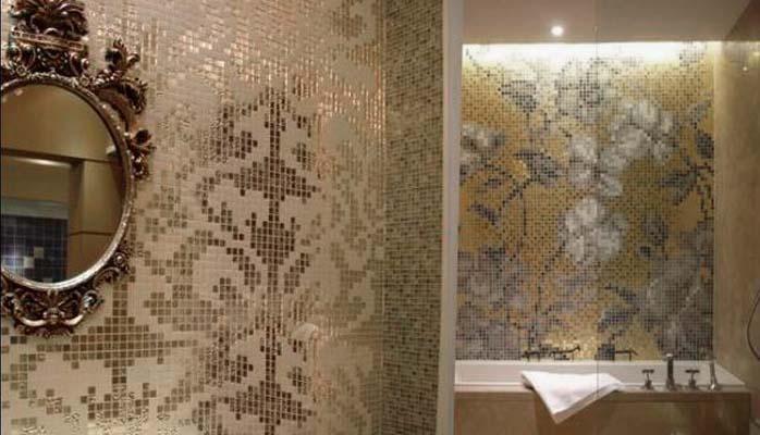 Crystal mosaic tile patterns 20x20mm gold glass tile - Frosted glass backsplash ...