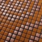 glass mosaic tile patterns orange crystal glass tile backsplash puzzle mosaic tile art 12mm bathroom wall and floor tiles GH35A