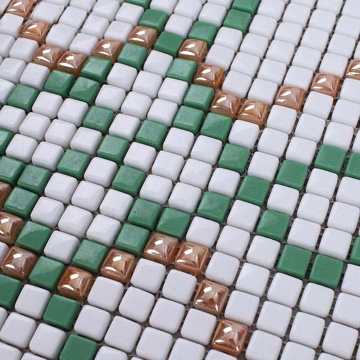 glass mosaic tile patterns green crystal glass tile