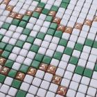 glass mosaic tile patterns green crystal glass tile backsplash puzzle mosaic tile art 12mm bathroom wall and floor tiles GH33