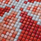 glass mosaic tile patterns red crystal glass tile backsplash puzzle mosaic tile art 12x12mm bathroom wall and floor tiles GH19