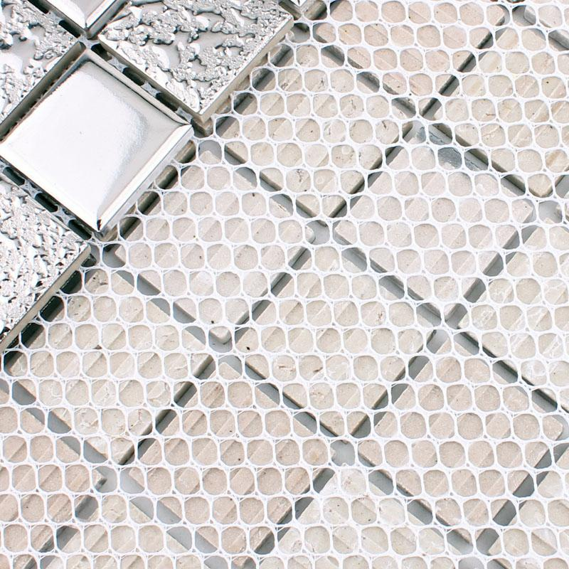 Porcelain Tile Backsplash Kitchen Silver Ceramic Mosaic Mirror Hd 063
