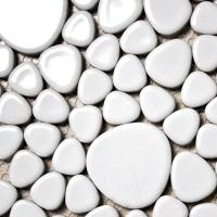 white porcelain tile backsplash pebble mosaic ceramic tile stickers ATY1103 bathroom wall tiles kitchen backsplash tiles