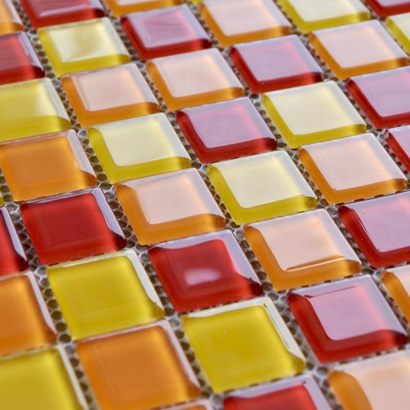Glass Mosaic Tiles Kitchen Backsplash Tile Bathroom Wall Sticker Ah303