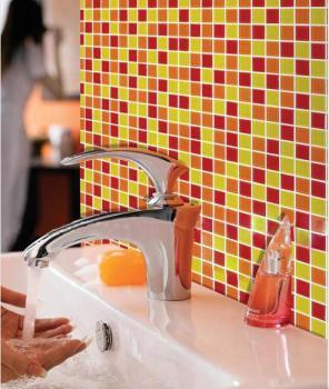 glass mosaic tiles kitchen backsplash tile designs bathroom wall tile stickers swimming pool tile crystal glass tiles AH303