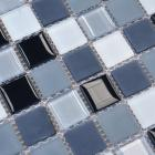 glass mosaic tiles kitchen backsplash tile designs bathroom wall tile stickers swimming pool tile crystal glass floor tile HBH01