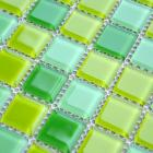 glass mosaic tiles kitchen backsplash tile designs bathroom wall stickers swimming pool tile green crystal glass tile JKX03