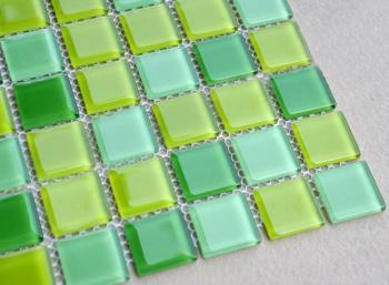 glass mosaic tiles kitchen backsplash tile designs bathroom wall stickers swimming pool tile green crystal glass tile JKX03