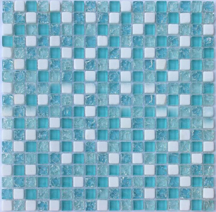 crackle glass mosaic tile backsplash blue mosaic stone tiles stbl001. Black Bedroom Furniture Sets. Home Design Ideas