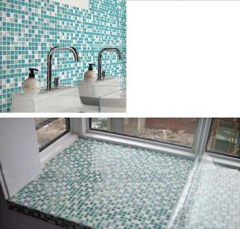 crackle glass mosaic tile backsplash blue mosaic stone tile sheets kitchen tile flooring designs STBL001 bathroom wall tiles