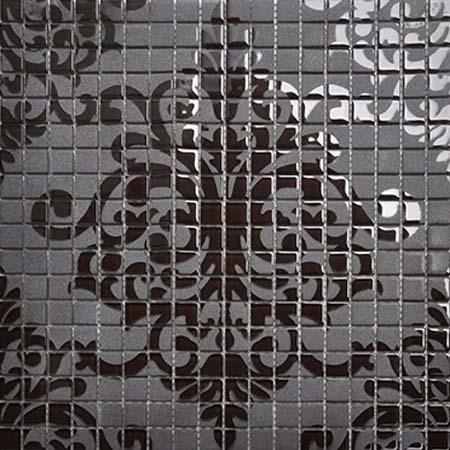 crystal mosaic tile patterns 15x15mm black glass tile backsplash h059