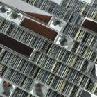 glass mosaic tile backsplash interlocking metal glass tile diamond kitchen metallic tiles with base T006 bathroom wall tiles