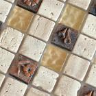 kitchen backsplash ceramic mosaic tile stickers porcelain tile flooring designs NM006 crystal glass tile bathroom floor tiles