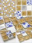 italian porcelain tile flooring designs kitchen backsplash tiles glazed ceramic mosaic tile stickers bathroom wall tiles JN001