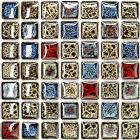 italian porcelain tile backsplash bathroom wall art glazed ceramic kitchen floor tiles GM02 porcelain mosaic mirrored stickers