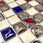 italian porcelain tile backsplash bathroom wall art glazed ceramic kitchen floor tiles GM08 porcelain mosaic mirrored stickers