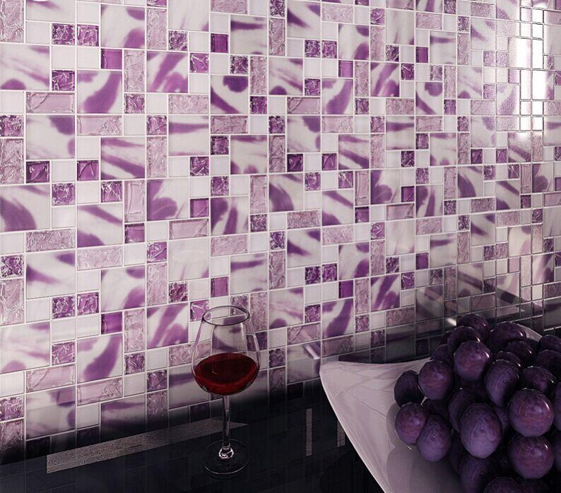 glass wall tiles. Frosted Glass Mosaic Tile Backsplash Kitchen Crackle Crystal MH01-3 Wall Tiles (