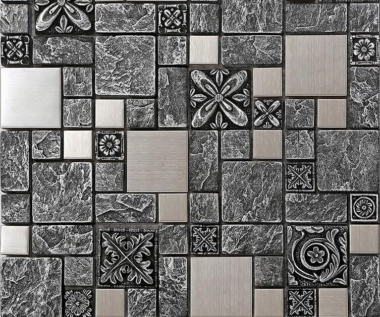 Stainless Steel Backsplash Kitchen Ceramic Wall Tiles B965
