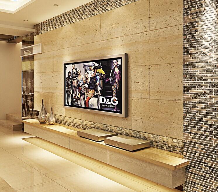 ceramic tiles backsplash stainless steel diamond glass mosaic B967-4