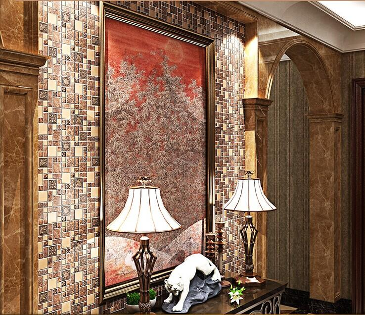 Gold Porcelain Tiles Bathroom Wall Backsplash Glazed: Stainless Steel Backsplash Kitchen Ceramic Floor Tile B963