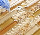diamond glass tile backsplash interlocking glass mosaic tiles SPBC781 crystal resin seashell bathroom floor tile design