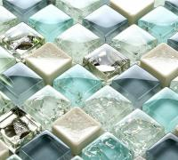 ceramic glass tile backsplash kitchen crackle crystal glass wall tiles SPS88 porcelain cream mosaic bathroom floor tile design