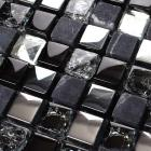 metal tile diamond crack crystal glass backsplash stone mosaic brushed 304 stainless steel wall art