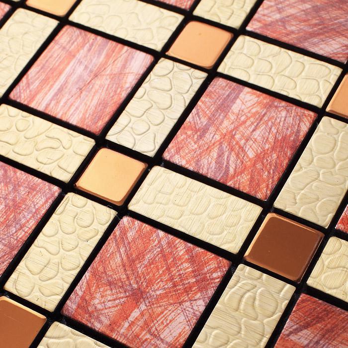 wholesale metal tiles backsplash gold bump arts aluminum